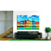 Schilderij - Zonnig Venetië, Multi-gekleurd, 3luik