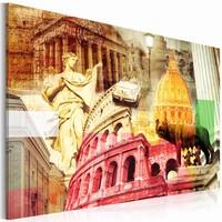Schilderij - Charming Rome, Multi-gekleurd, premium print
