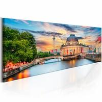 Schilderij - Berlijn : Museum Eiland , multi kleur