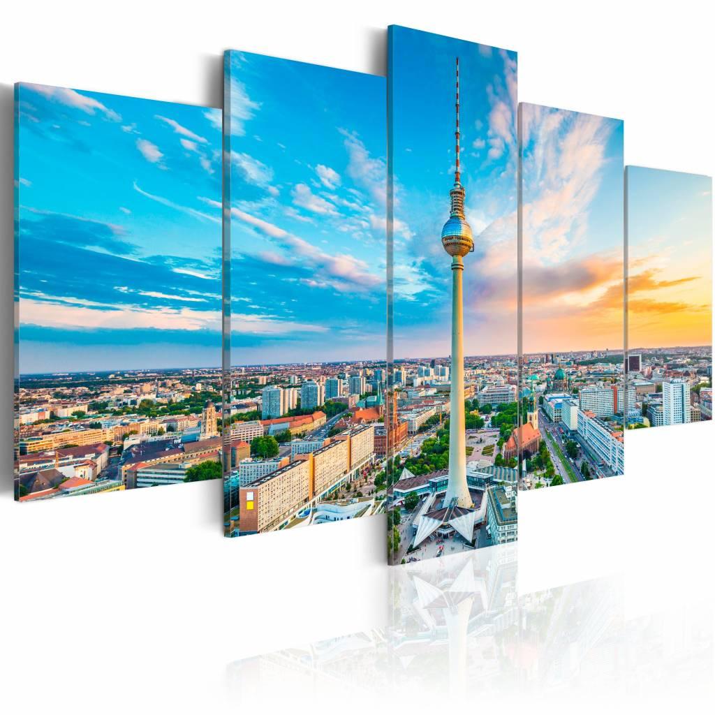 Schilderij - Berlijnse TV Toren, Duitsland , multi kleur , 5 luik , 2 maten