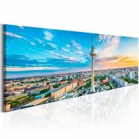 Schilderij - Berliner Fernsehturm, Duitsland , multi kleur