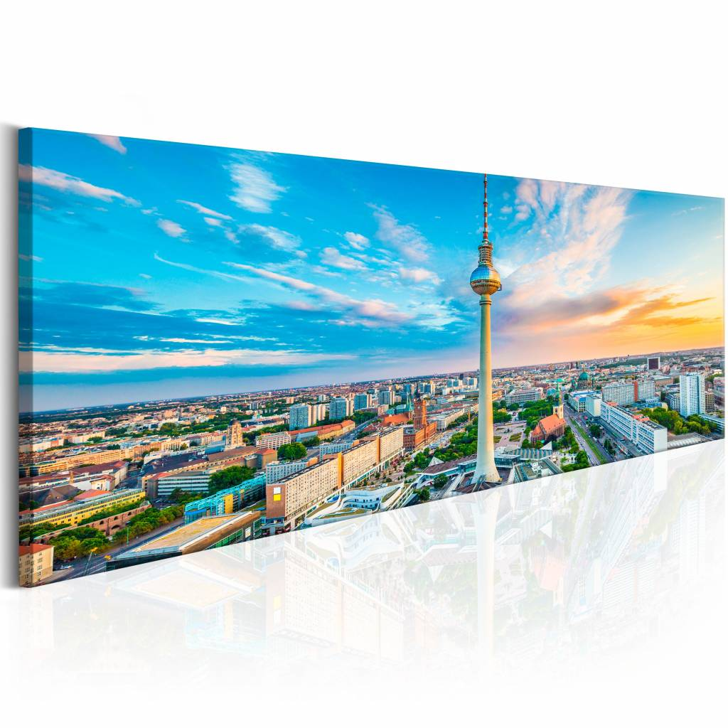 Schilderij - Berliner Fernsehturm, Duitsland , multi kleur , 1 luik , 2 maten