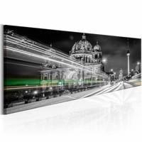 Canvas Schilderij - Berlijn - Duitsland , grijs wit , 1 luik , 2 maten