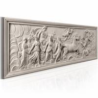 Canvas Schilderij - Reliëf: Apollo en Muses 150X50 , beige , 1 luik