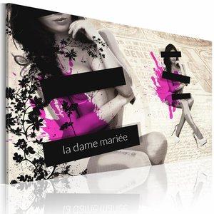 Schilderij - La dame Mariée, Beige, 1luik
