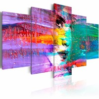Schilderij - Sensualiteit in kleur, Multi-gekleurd, 2 Maten 5luik