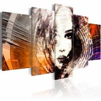 Schilderij - Spiraal van geheimen, Multi-gekleurd, 2 Maten, 5luik