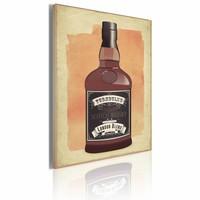 Schilderij - Scotch whiskySchilderij - Scotch whisky, Bruin/Oranje, 50x70cm, 1luik