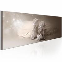 Schilderij - Engelachtige Zoetigheid , beige wit