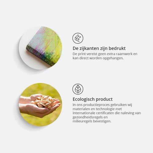 Schilderij - Lachende engelen, Beige/wit, 2 maten, Premium print