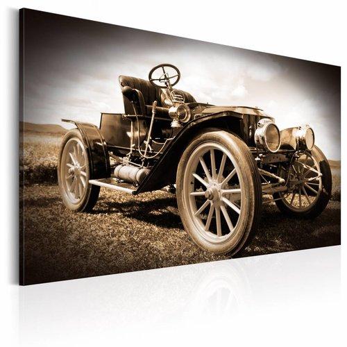 Schilderij - Retro Car, Oldtimer, Sepia