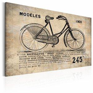 Canvas Schilderij -Model N° 1245 - Fiets, Sepia, 2 Maten, 1luik