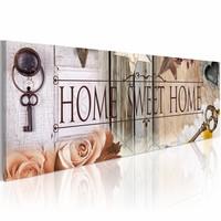 Schilderij - Sleutel to Sweet Home, Multi-gekleurd, 2 Maten, 1luik