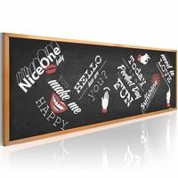 Schilderij - Funny blackboard, Zwart, 2 Maten, 1luik