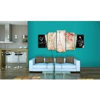 Schilderij - Altijd mooie Parijs, 5 luik, Multikleur, 2 maten, Premium print