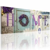 Schilderij - Jeugdherinneringen Home, Paars/Beige, 2 maten, Premium print