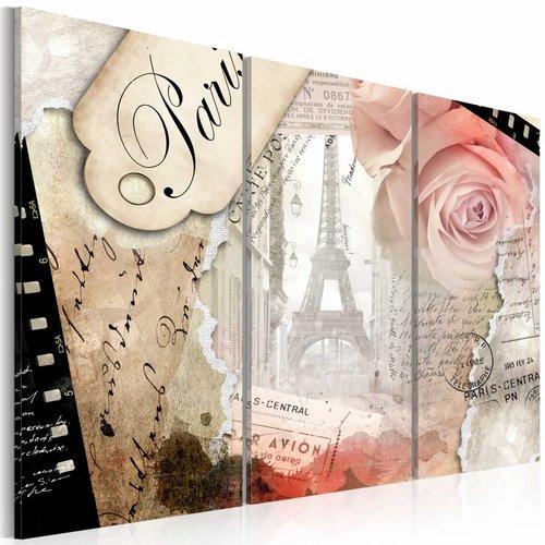 Schilderij - Parijs in 1 beeld, 3 luik, Multikleur, 3 maten, Premium print
