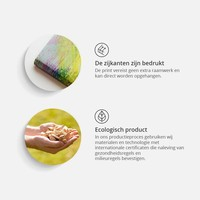 Schilderij - de tuin, 3 luik, Multikleur, 3 maten, Premium print