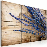 Schilderij - Lavendel, 3luik