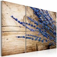 Schilderij - Lavendel, Paars, 2 Maten, 3luik