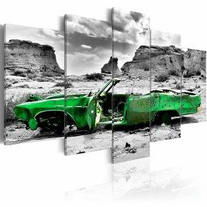 Canvas Schilderij - Oldtimer in het groen, 2 Maten, 5luik