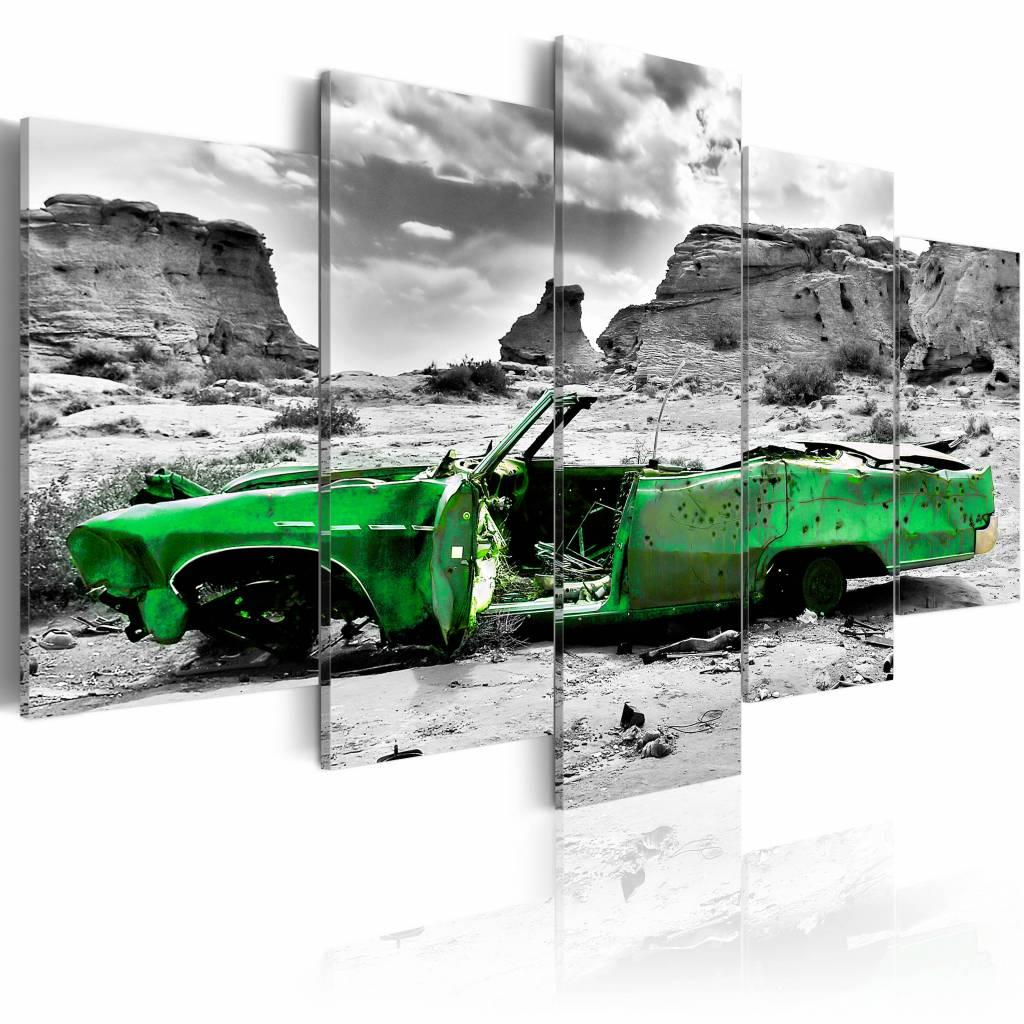 Schilderij - Oldtimer in het groen,� 5luik