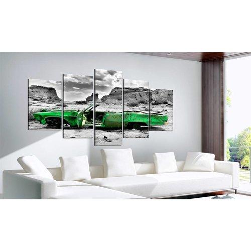 Schilderij - Oldtimer in het groen, 5luik