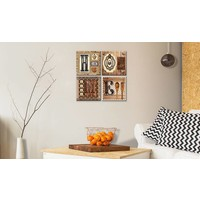 Schilderij - There is no place like home, 4luik