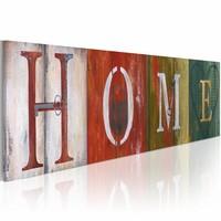 Schilderij - Welcome home!, Multi-gekleurd,  120x40cm, 1luik