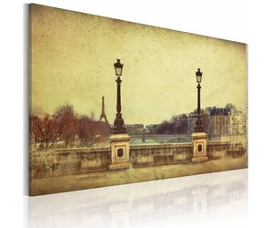 Canvas schilderij parijs de stad van dromen sepia maten