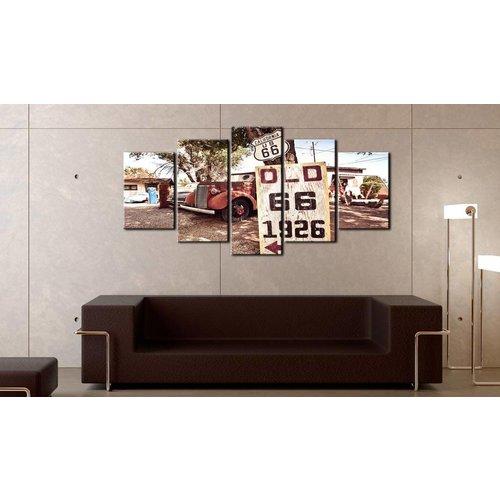 Schilderij - California vintage style, 5 luik, Multikleur, 2 maten, Premium print