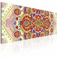 Schilderij - Mandala , multi kleur , 5 luik