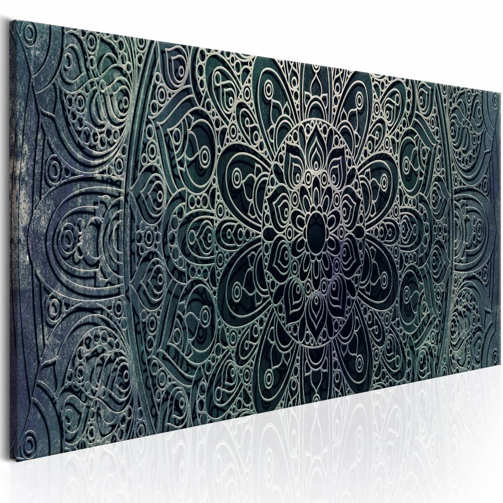 Schilderij - Mandala: Malachite Kalmte