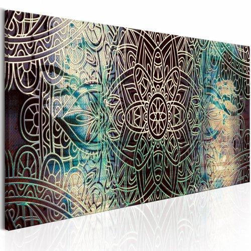Schilderij - Mandala: Vredesknoop