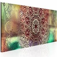 Schilderij - Kleurrijkel Mandala , multi kleur