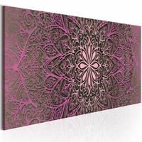 Schilderij - Roze verfijning , mandala