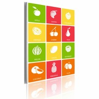 Schilderij - Fruit mix, Multi-gekleurd, 50x70, 1luik