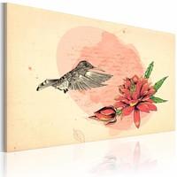 Schilderij Eerste vlucht, kolibrie, 1deel, 2 maten