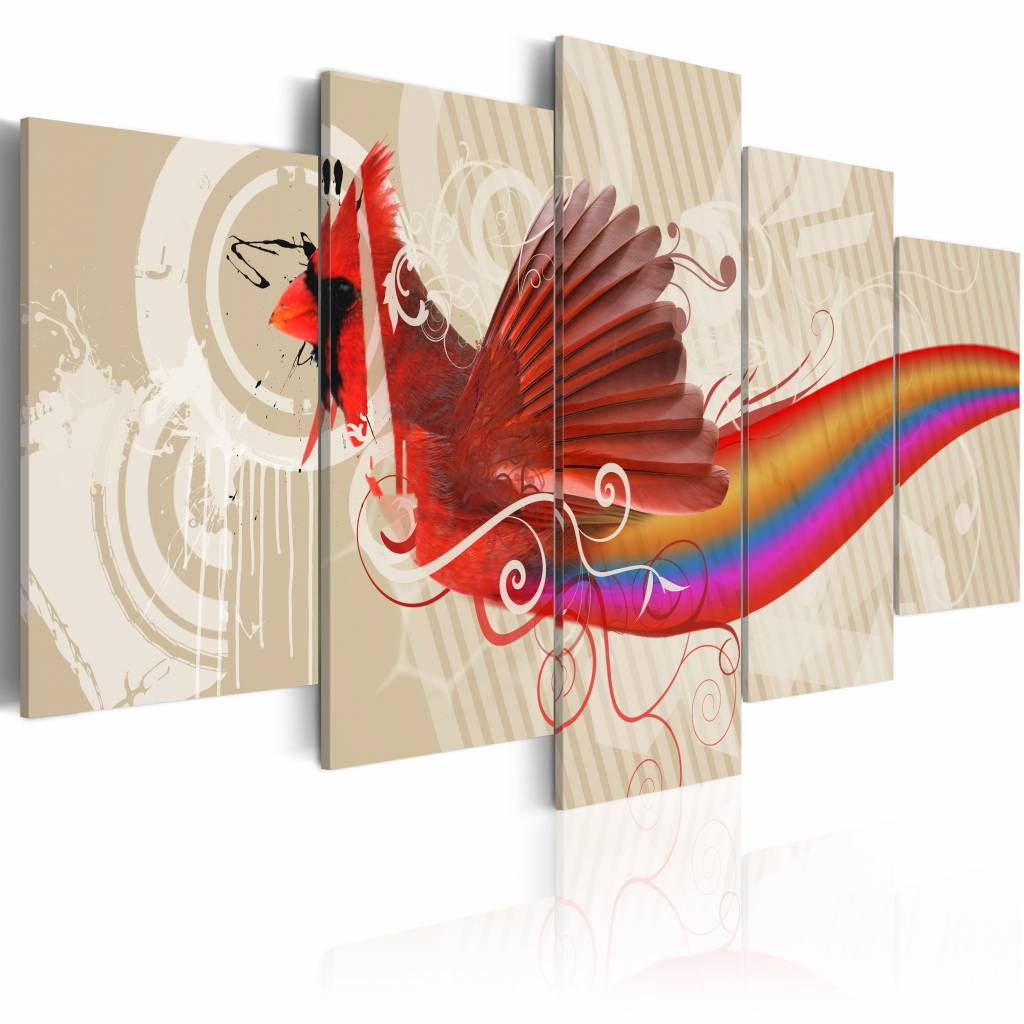 Schilderij - Maniac, multi-gekleurd, 5luik, 2 maten