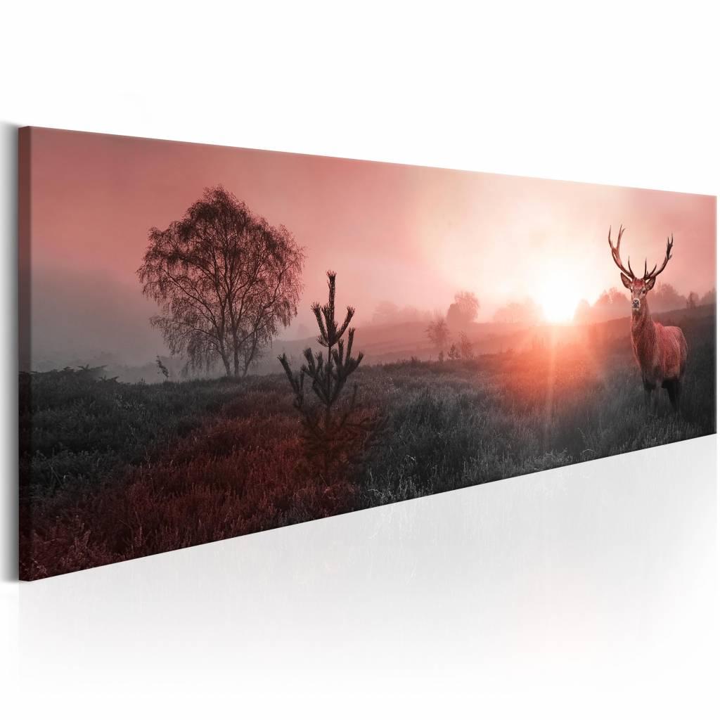 Schilderij - In de Horizon , roze bruin , 1 luik , 3 maten