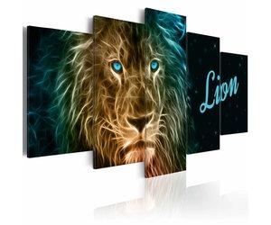 Gouden Accessoires Slaapkamer : Schilderij gouden leeuw karo art vof