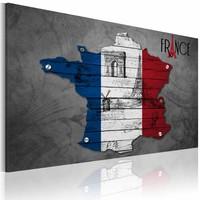 Schilderij - Symbolen van Frankrijk