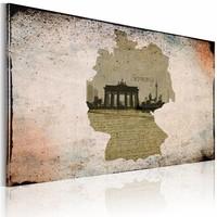 Canvas Schilderij - Brandenburg Poort - photo, Bruin/Beige, 2 Maten, 1luik