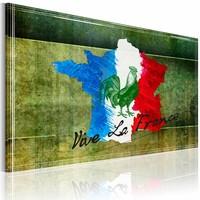 Schilderij - Vive la France, Groen, 1luik