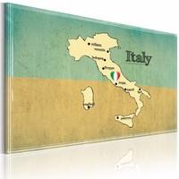 Schilderij - Hart van Italië, Blauw/Beige, 1luik