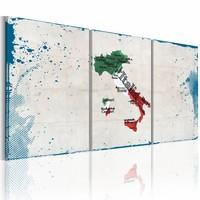 Schilderij - Bekende plaatsen - Italië, Multi-gekleurd, 2 Maten, 3luik