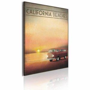 Schilderij - California Beaches, Oranje/Rood, 1luik, 50x70cm