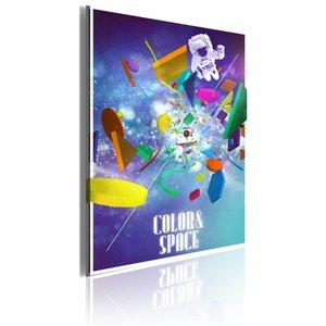 Schilderij - Color & Space, Multi-gekleurd, 1luik, 50x70cm