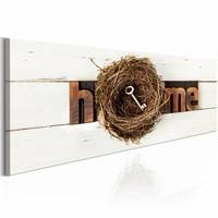 Schilderij - Thuis Nest, 1 deel, 2 maten