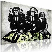 Schilderij - Banksy - Geld is een probleem II